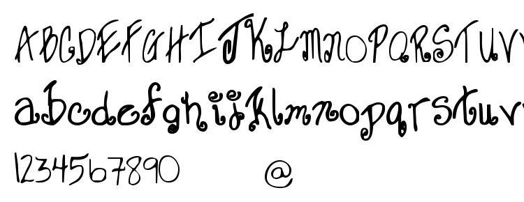 glyphs Sweet janet font, сharacters Sweet janet font, symbols Sweet janet font, character map Sweet janet font, preview Sweet janet font, abc Sweet janet font, Sweet janet font