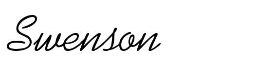 Шрифт Swenson