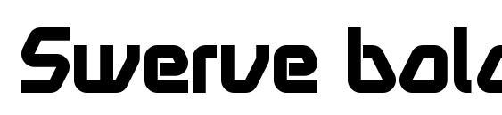 шрифт Swerve bold, бесплатный шрифт Swerve bold, предварительный просмотр шрифта Swerve bold