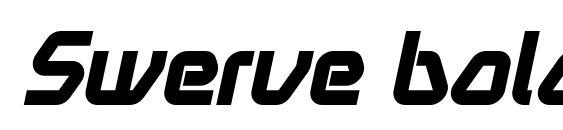 Swerve bolditalic font, free Swerve bolditalic font, preview Swerve bolditalic font
