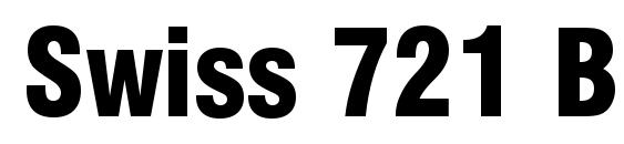 Шрифт Swiss 721 Black Condensed BT