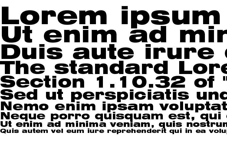 specimens Swiss 721 Black Extended BT font, sample Swiss 721 Black Extended BT font, an example of writing Swiss 721 Black Extended BT font, review Swiss 721 Black Extended BT font, preview Swiss 721 Black Extended BT font, Swiss 721 Black Extended BT font