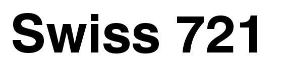 Swiss 721 Bold BT Font