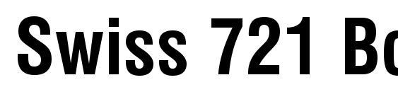 шрифт Swiss 721 Bold Condensed BT, бесплатный шрифт Swiss 721 Bold Condensed BT, предварительный просмотр шрифта Swiss 721 Bold Condensed BT