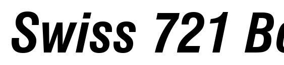 Swiss 721 Bold Condensed Italic BT Font