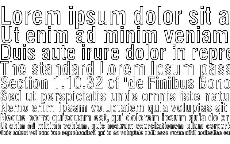 specimens Swiss 721 Bold Condensed Outline BT font, sample Swiss 721 Bold Condensed Outline BT font, an example of writing Swiss 721 Bold Condensed Outline BT font, review Swiss 721 Bold Condensed Outline BT font, preview Swiss 721 Bold Condensed Outline BT font, Swiss 721 Bold Condensed Outline BT font