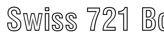Шрифт Swiss 721 Bold Condensed Outline BT