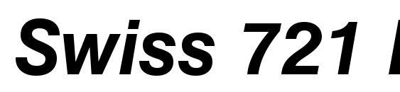 Шрифт Swiss 721 Bold Italic BT