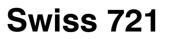 Шрифт Swiss 721 Bold SWA