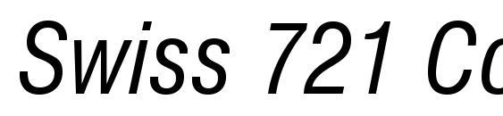 Шрифт Swiss 721 Condensed Italic BT
