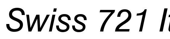 Swiss 721 Italic BT Font
