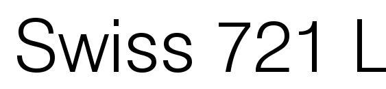 шрифт Swiss 721 Light BT, бесплатный шрифт Swiss 721 Light BT, предварительный просмотр шрифта Swiss 721 Light BT