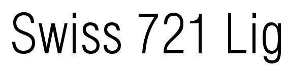 Шрифт Swiss 721 Light Condensed BT