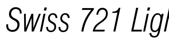Шрифт Swiss 721 Light Condensed Italic BT