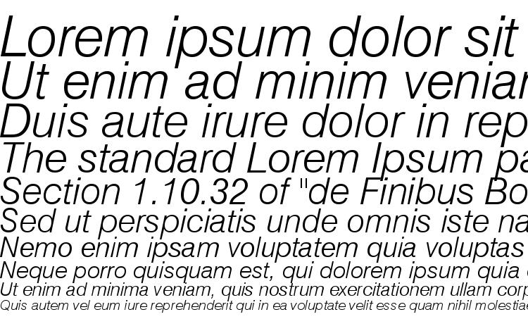 specimens Swiss 721 Light Italic BT font, sample Swiss 721 Light Italic BT font, an example of writing Swiss 721 Light Italic BT font, review Swiss 721 Light Italic BT font, preview Swiss 721 Light Italic BT font, Swiss 721 Light Italic BT font