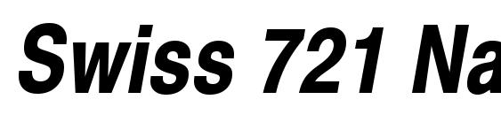 Шрифт Swiss 721 Narrow Bold Oblique SWA