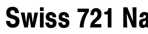 Шрифт Swiss 721 Narrow Bold SWA