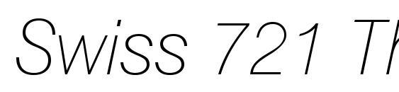 Swiss 721 Thin Italic BT Font