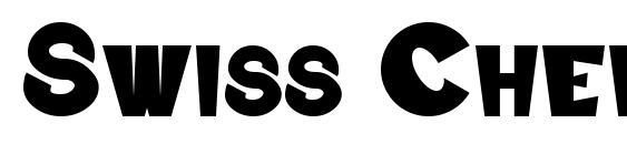 Шрифт Swiss Cheesed