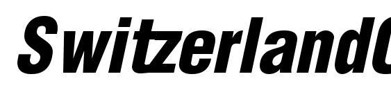 SwitzerlandCondBlack Italic Font