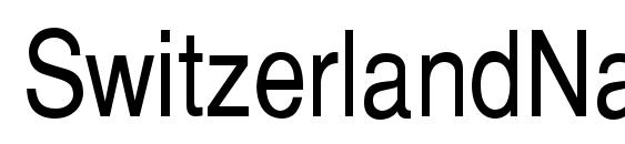 шрифт SwitzerlandNarrow, бесплатный шрифт SwitzerlandNarrow, предварительный просмотр шрифта SwitzerlandNarrow