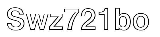 Шрифт Swz721bo