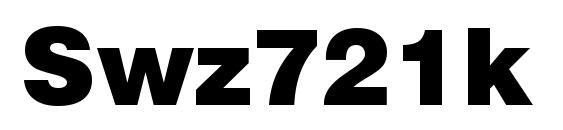 Шрифт Swz721k