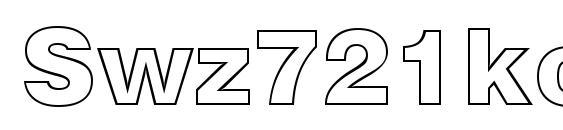 Swz721ko font, free Swz721ko font, preview Swz721ko font
