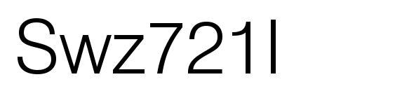 Swz721l Font