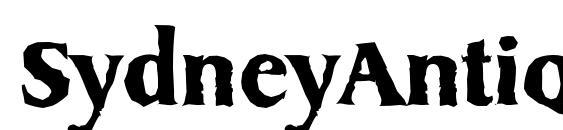 SydneyAntique Bold Font