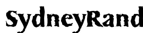 SydneyRandom Bold font, free SydneyRandom Bold font, preview SydneyRandom Bold font