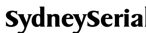 SydneySerial Bold Font