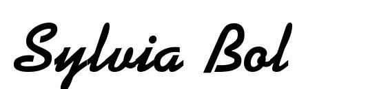 Шрифт Sylvia Bold