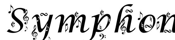 Symphony in ABC Font