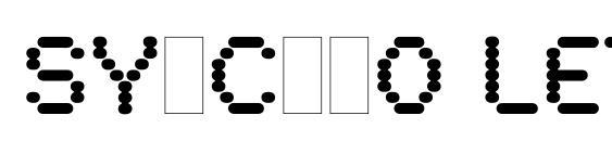 Шрифт Synchro LET Plain.1.0