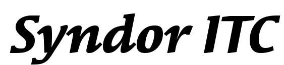 Syndor ITC Bold Italic Font