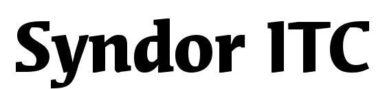 Syndor ITC Bold Font