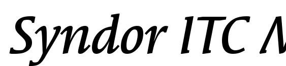 Syndor ITC Medium Italic Font