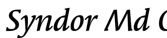 шрифт Syndor Md OS ITC TT MediumIta, бесплатный шрифт Syndor Md OS ITC TT MediumIta, предварительный просмотр шрифта Syndor Md OS ITC TT MediumIta