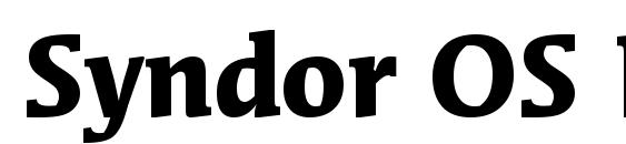 Шрифт Syndor OS ITC TT Bold