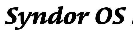 Шрифт Syndor OS ITC TT BoldItalic