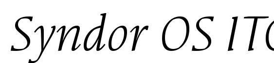 Шрифт Syndor OS ITC TT BookItalic