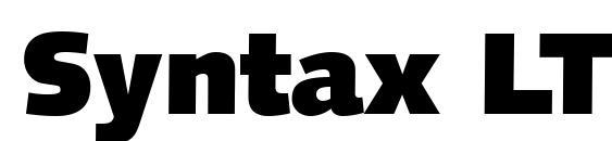 Syntax LT UltraBlack Font