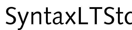 Шрифт SyntaxLTStd Roman
