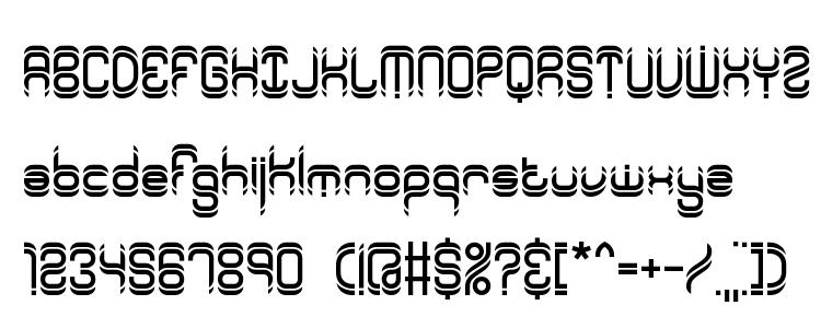 глифы шрифта Synthetic BRK, символы шрифта Synthetic BRK, символьная карта шрифта Synthetic BRK, предварительный просмотр шрифта Synthetic BRK, алфавит шрифта Synthetic BRK, шрифт Synthetic BRK