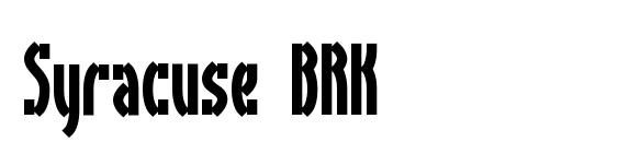 Syracuse BRK font, free Syracuse BRK font, preview Syracuse BRK font