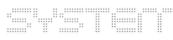 Шрифт System hatch