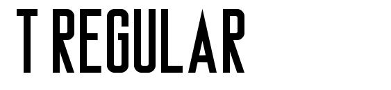 T Regular Font