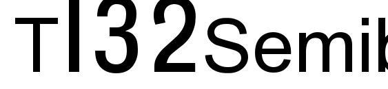 Шрифт T132Semibold