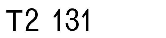 T2 131 Font